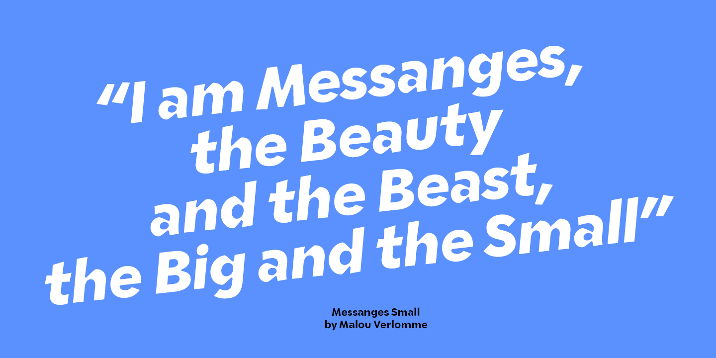 free font: messanges small regular