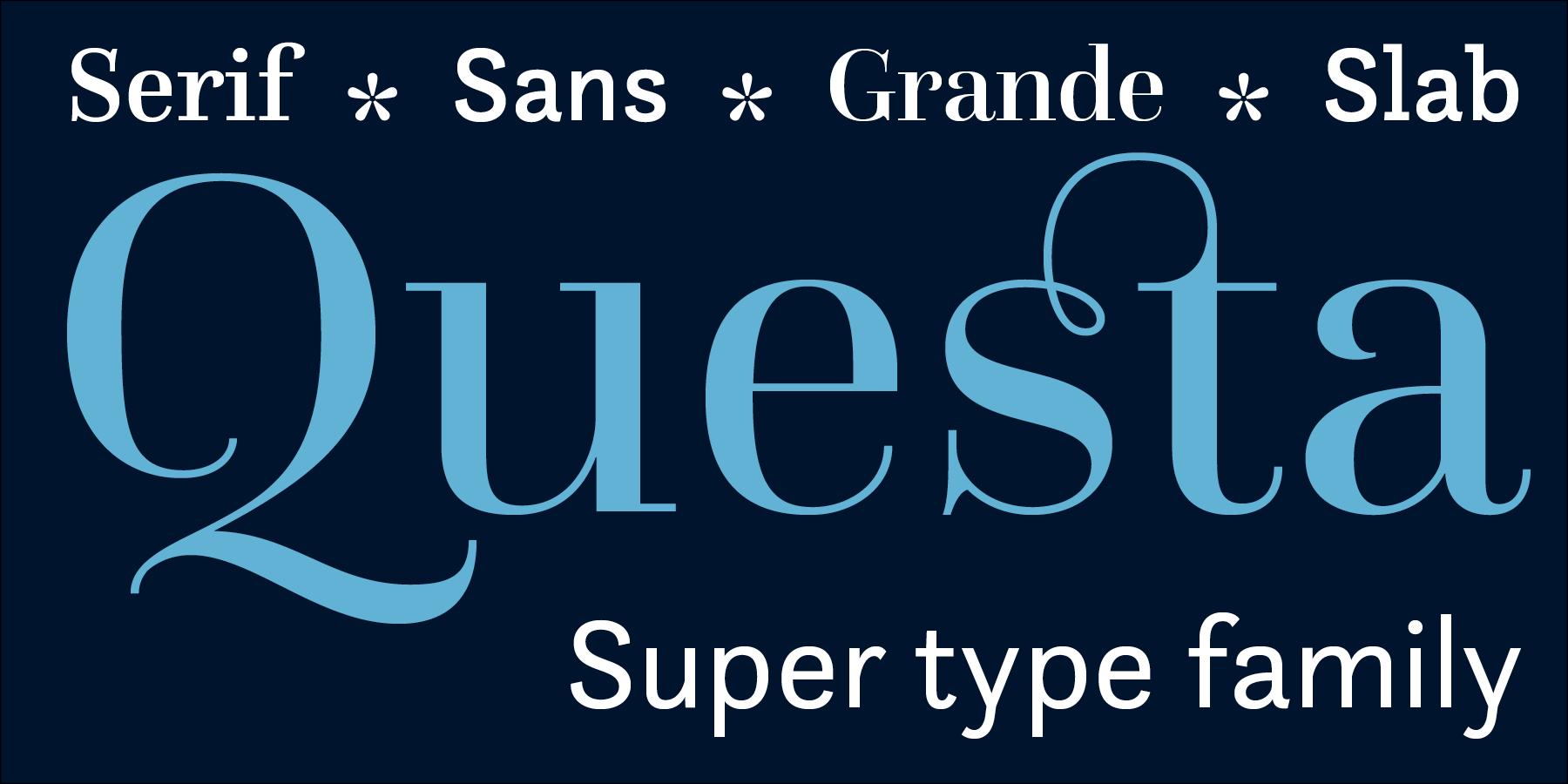 free font: Questa Grande regular
